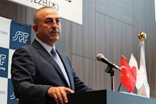 講演するトルコ外相