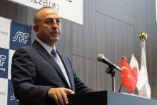 サウジのカタール制裁に懸念=トルコ外相が来日講演