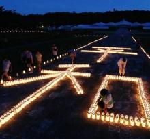 「平和の決意新たに」=慰霊の日前夜祭-沖縄