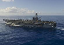 米空母「ニミッツ」、西太平洋入り=2隻態勢、北朝鮮、中国けん制か-第7艦隊