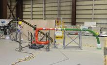 福島第1、廃炉実験施設を公開=コンクリ注入、24日実施