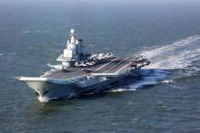 中国空母、来月香港寄港か
