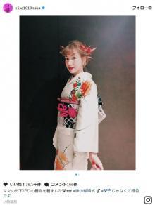 仲里依紗、貴重な着物オフショット公開に反響「ため息が出ちゃうほどお美しい」