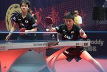 張本、木造組が世界王者破る=卓球中国オープン