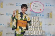高畑充希が浴衣で登場 「オールフリー」新CMの撮影でも発表会でもテンション上がりっぱなし!?