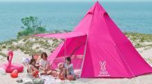 ピンク色だぜ、でっかいぜ…8人泊まれるテント「ビッグワンポールテント」