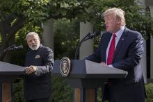 インドへの無人機売却を提案=トランプ氏「関係かつてなく強固」-首脳会談