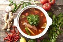 人気のパクチーとヘルシーなラムが食べ放題!「しゃぶしゃぶ温野菜」に、食欲をそそるトムヤムクン鍋が登場
