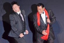 アントニオ猪木、山里亮太にパワー注入 「綾部より先にハリウッドデビューしたのに…」