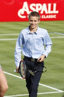 ベッカム次男、ウィンブルドンの選手にテニスの才能を絶賛される