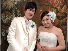 やしろ優、9ヶ月で21キロ減量に成功し花嫁姿 笑撃戦隊・野村辰ニと挙式&披露宴