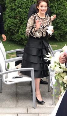 知念里奈 フリーアナの妹・芽衣の結婚式に出席し、祝福に感謝