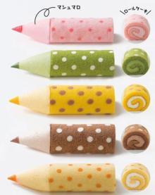 おいしい色鉛筆!?ブルージン「色えんぴつろーる」--大阪新阪急ホテルで買えるキュートなロールケーキ