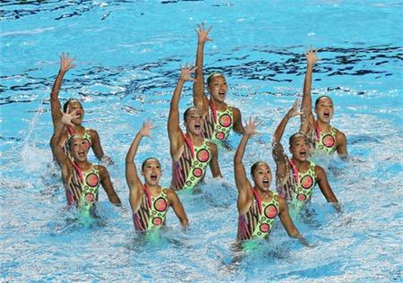 日本、チームTR予選3位=世界水泳