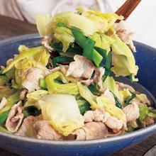 ガッツリ食べて元気復活! モツ鍋風の味つけがあと引く「豚バラとキャベツのうま塩煮」
