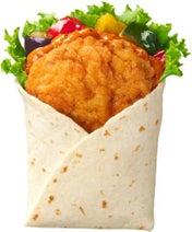 ケンタッキーにピリ辛の新サンド「スパイシーチキンラップ ムチョス」--野菜たっぷりで嬉しい!