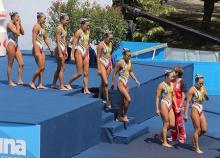 日本、連続メダルならず=シンクロ、チームFRも4位-世界水泳