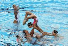 日本、フリーコンビ予選は3位=世界水泳