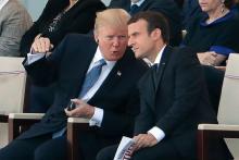 仏革命記念日でパレード=テロ1年、米大統領も参観