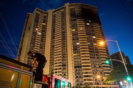 高層マンションで火災、3人死亡=ハワイ