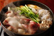 創業300年の猪鍋料理