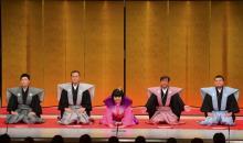 史上初の吉本新喜劇女性座長酒井藍がデビュー 先輩4座長が口上でエール
