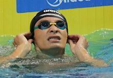 入江、男子100背で4位=世界水泳