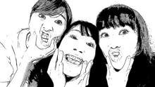 ももクロ玉井、百田・高城との変顔3ショット公開に「変顔すら愛おしい」の声