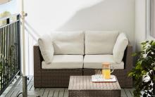 バルコニーは1畳でも楽しめる!小さなバルコニーがイケアのアイテムで癒やしの空間に変身