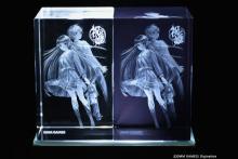DMM.make、ガラスにイラストを立体レーザー彫刻してくれる「3Dクリスタル」開始