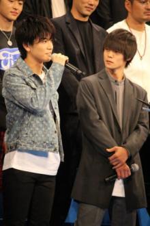 岩田剛典、言い間違えでファンが悲鳴? 『HiGH&LOW』完成披露に60人登壇