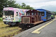 観光シーズンの南阿蘇鉄道