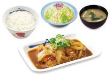 松屋に夏のスタミナメニュー「鶏のバター醤油炒め定食」―ニンニクとバターばっちり