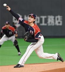 有原が6勝目=プロ野球