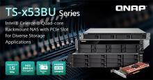QNAP TurboNASシリーズ PCIe拡張スロットを搭載したSMB向けラックマウントを発売