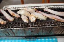 セルフで作れる!新鮮な魚介の炭火焼き