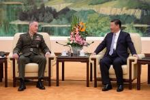 軍同士の関係強化を=米制服トップと会談-中国主席