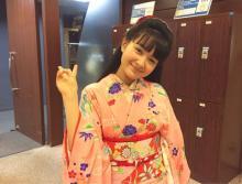 葵わかな、朝ドラ『わろてんか』の劇中衣装でピースサイン。思いも綴る