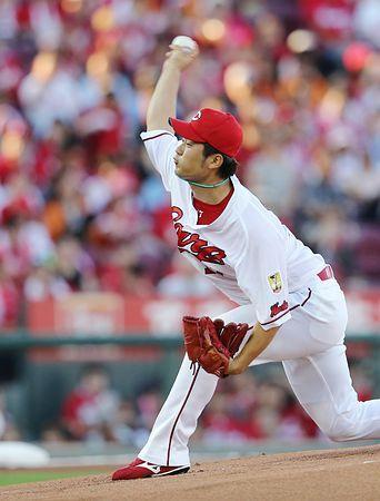 広島の岡田が11勝目=プロ野球・広島-巨人