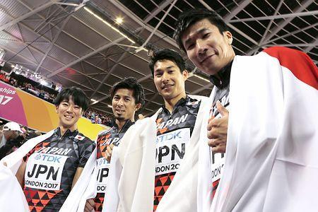 日本、400リレーで銅=今大会初メダル-世界陸上