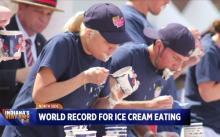米国のアイスクリームの早食い大会で日系アメリカ人のフードファイターが新記録を達成!