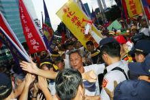 デモ隊が選手入場妨害=ユニバーシアード開会式-台湾