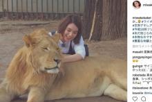 """『世界動物ゲキレアハンター』で筧<span class=""""hlword1"""">美和</span>子がリアル『美女と野獣』に挑戦 ネットでは称賛の声"""