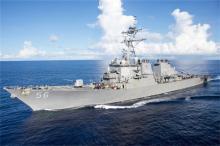 米イージス艦がタンカーと衝突