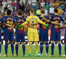本拠地で犠牲者悼む=テロに見舞われたバルセロナ-スペイン・サッカー