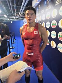 グレコ転向の松本=世界レスリング