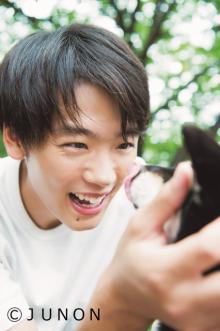 竹内涼真、プライベート感あふれる笑顔「彼氏と犬とお散歩デートなう。に使っていいよ」