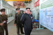 ICBM弾頭の増産指示=金正恩氏が研究所視察-北朝鮮